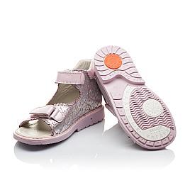 Детские ортопедические босоножки Woopy Orthopedic розовые для девочек натуральная кожа размер - (2136) Фото 2