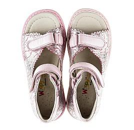 Детские ортопедические босоножки Woopy Orthopedic розовые для девочек натуральная кожа размер - (2136) Фото 5