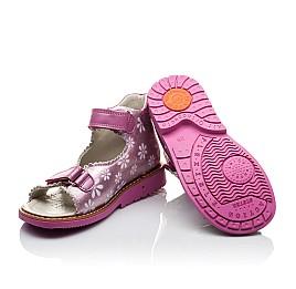 Детские ортопедические босоножки Woopy Orthopedic розовые для девочек натуральная кожа размер - (2140) Фото 2