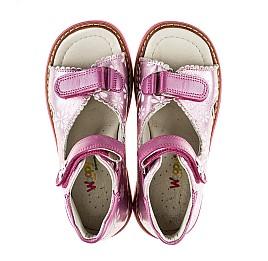 Детские ортопедические босоножки Woopy Orthopedic розовые для девочек натуральная кожа размер - (2140) Фото 5