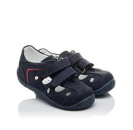 Детские закрытые босоножки Woopy Orthopedic темно-синие для мальчиков натуральный нубук размер 24-24 (2143) Фото 1