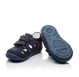 Детские закрытые босоножки Woopy Orthopedic темно-синие для мальчиков натуральный нубук размер 24-24 (2143) Фото 2