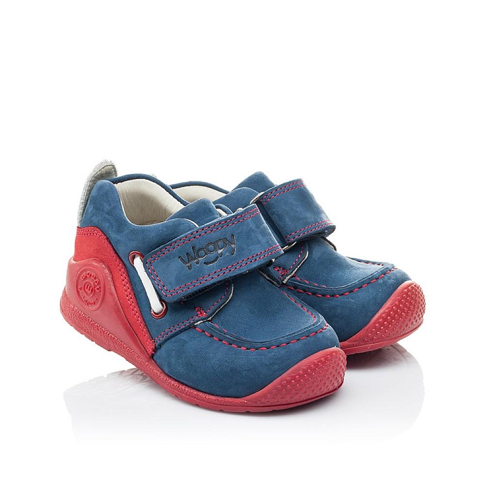 Детские мокасины Woopy Orthopedic синие для девочек натуральный нубук размер 18-21 (2145) Фото 1