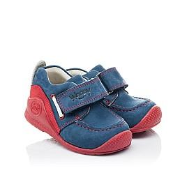 Детские мокасины Woopy Orthopedic синие для девочек натуральный нубук размер 18-18 (2145) Фото 1