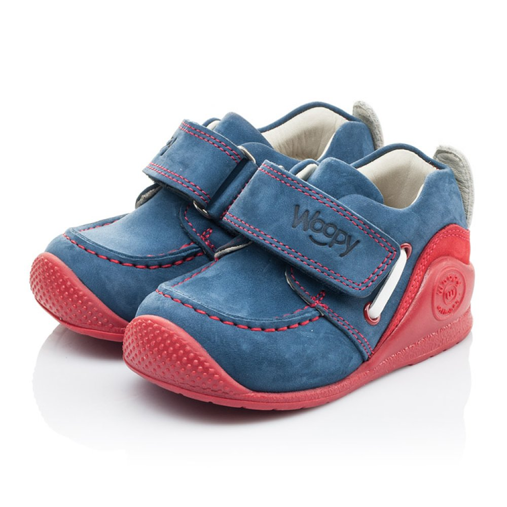 Детские мокасины Woopy Orthopedic синие для девочек натуральный нубук размер 18-21 (2145) Фото 3