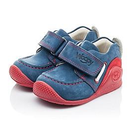 Детские мокасины Woopy Orthopedic синие для девочек натуральный нубук размер 18-18 (2145) Фото 3