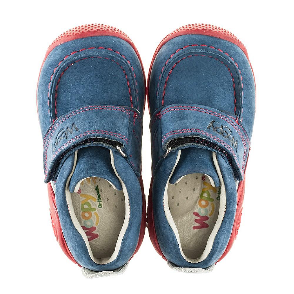 Детские мокасины Woopy Orthopedic синие для девочек натуральный нубук размер 18-21 (2145) Фото 5