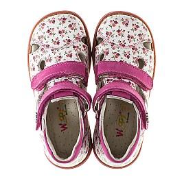 Детские закрытые ортопедические босоножки Woopy Orthopedic розовые для девочек натуральная кожа размер - (2146) Фото 5