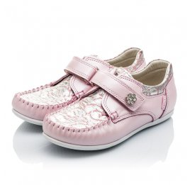 Детские мокасины Woopy Orthopedic нежно-розовый для девочек натуральная кожа размер 23-24 (2150) Фото 3