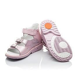 Детские ортопедические босоножки Woopy Orthopedic розовый перламутр для девочек натуральная кожа размер - (2152) Фото 2