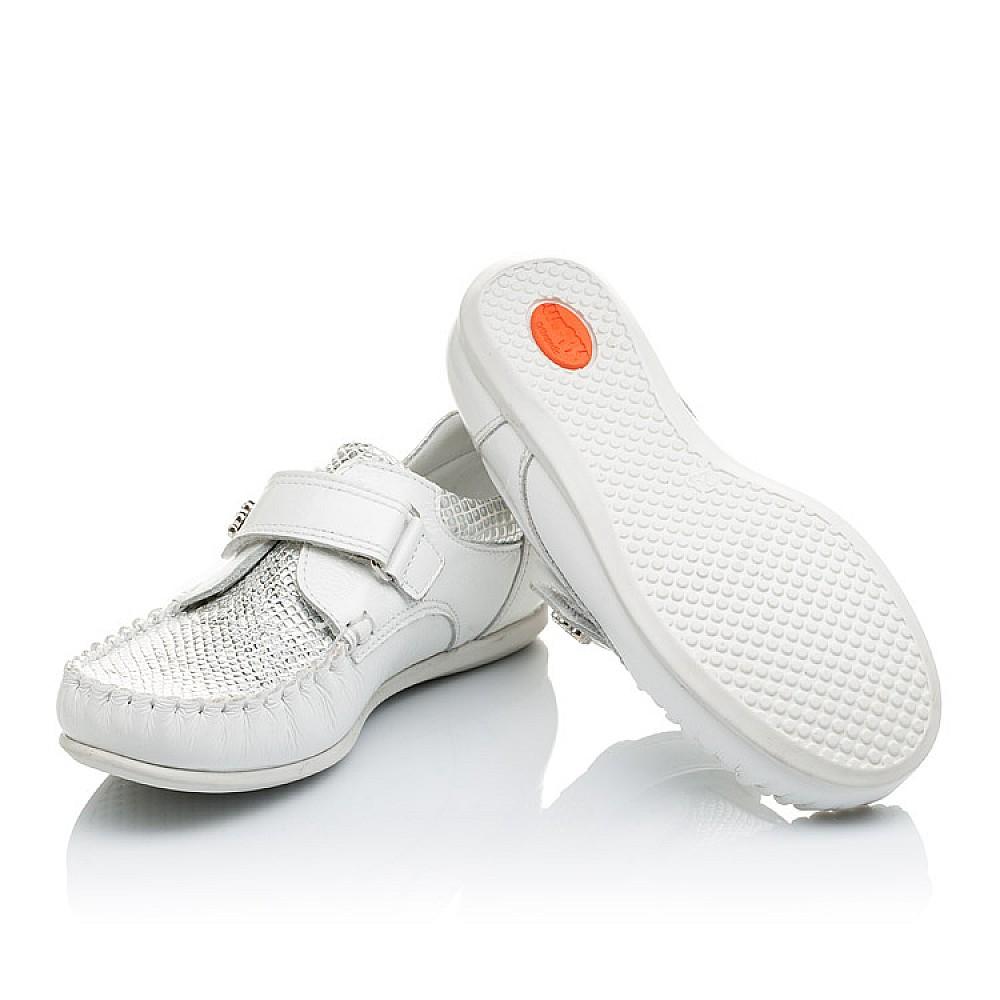 Детские мокасины Woopy Orthopedic белые для девочек натуральная кожа / лаковая кожа размер 23-30 (2156) Фото 2