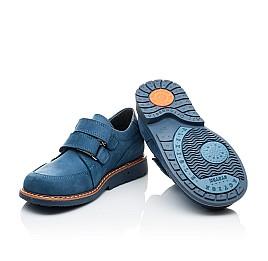 Детские туфли Woopy Orthopedic синие для мальчиков натуральный нубук размер 21-23 (2159) Фото 2