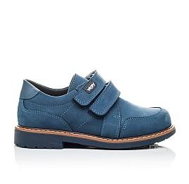 Детские туфли Woopy Orthopedic синие для мальчиков натуральный нубук размер 21-22 (2159) Фото 4