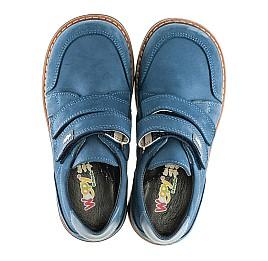 Детские туфли Woopy Orthopedic синие для мальчиков натуральный нубук размер 21-22 (2159) Фото 5
