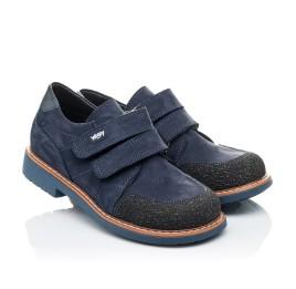 Детские туфли Woopy Orthopedic синие для мальчиков натуральный нубук размер - (2160) Фото 1