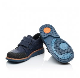 Детские туфли Woopy Orthopedic синие для мальчиков натуральный нубук размер - (2160) Фото 2