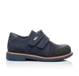 Детские туфли Woopy Orthopedic синие для мальчиков натуральный нубук размер - (2160) Фото 5
