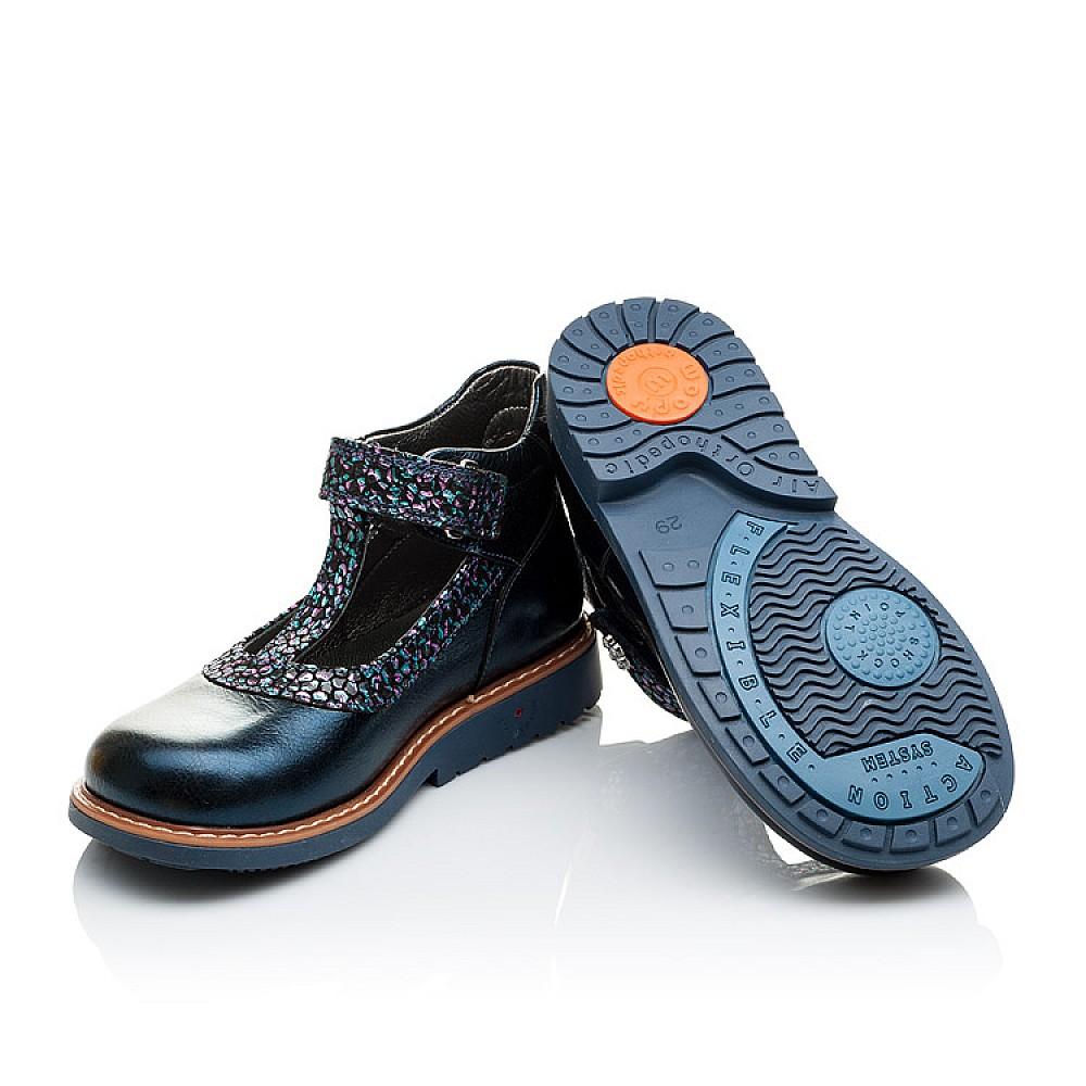 Детские туфли ортопедические Woopy Orthopedic синие для девочек натуральная лаковая кожа размер 26-36 (2171) Фото 2