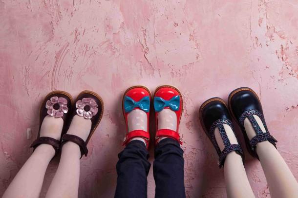 Девочка обута в детские туфли ортопедические Woopy Orthopedic синие (2171) Фото 2