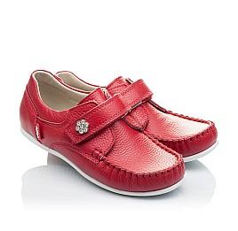 Детские мокасины Woopy Orthopedic красные для девочек натуральная кожа размер 23-23 (2173) Фото 1