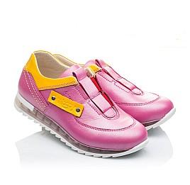 Детские кроссовки Woopy Orthopedic розовые для девочек натуральная кожа размер 21-22 (2186) Фото 1