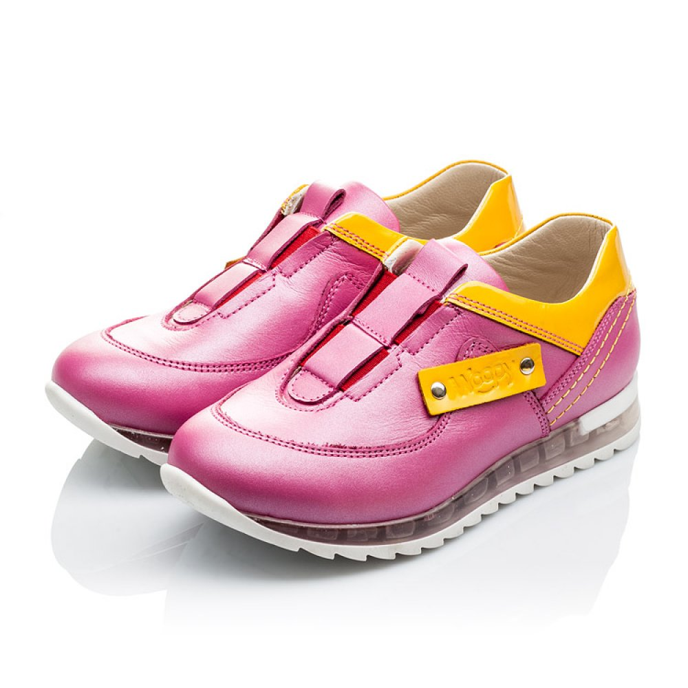 Детские кроссовки Woopy Orthopedic розовые для девочек натуральная кожа размер 21-36 (2186) Фото 3