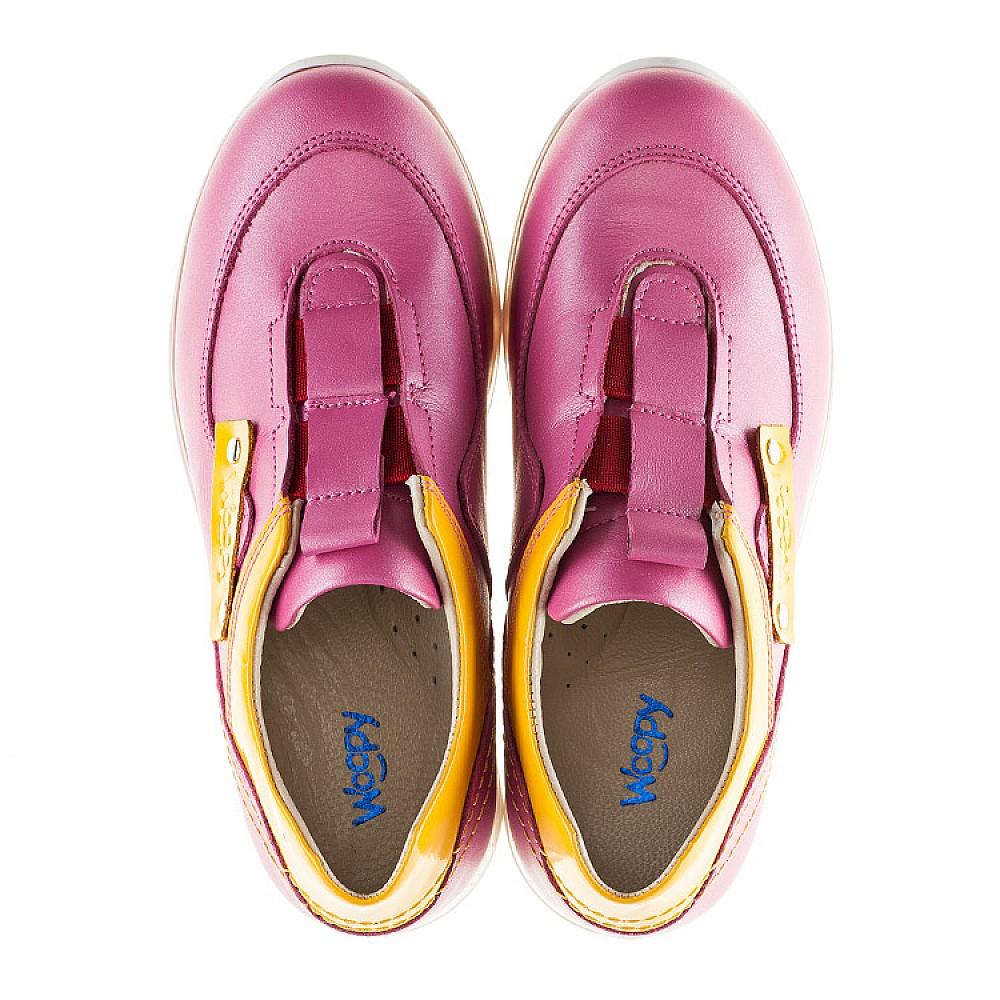 Детские кроссовки Woopy Orthopedic розовые для девочек натуральная кожа размер 21-36 (2186) Фото 5