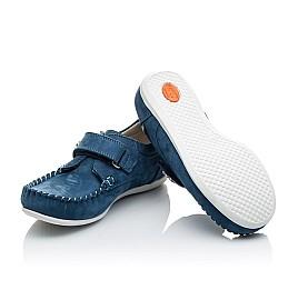 Детские мокасины Woopy Orthopedic синие для мальчиков натуральный нубук размер 23-23 (2192) Фото 2