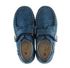 Детские мокасины Woopy Orthopedic синие для мальчиков натуральный нубук размер 23-23 (2192) Фото 5