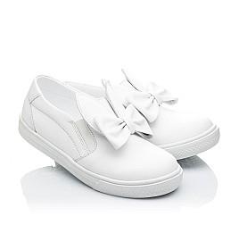 Детские слипоны Woopy Orthopedic белые для девочек натуральная кожа размер 23-23 (2194) Фото 1