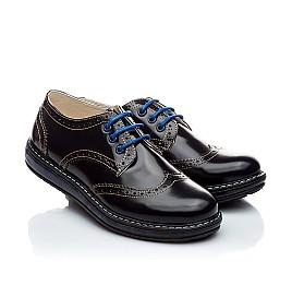 Детские закрытые туфли Woopy Orthopedic черные для девочек натуральная лаковая кожа размер - (2206) Фото 1