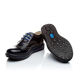 Детские закрытые туфли Woopy Orthopedic черные для девочек натуральная лаковая кожа размер - (2206) Фото 2