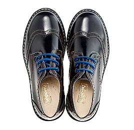 Детские закрытые туфли Woopy Orthopedic черные для девочек натуральная лаковая кожа размер - (2206) Фото 5