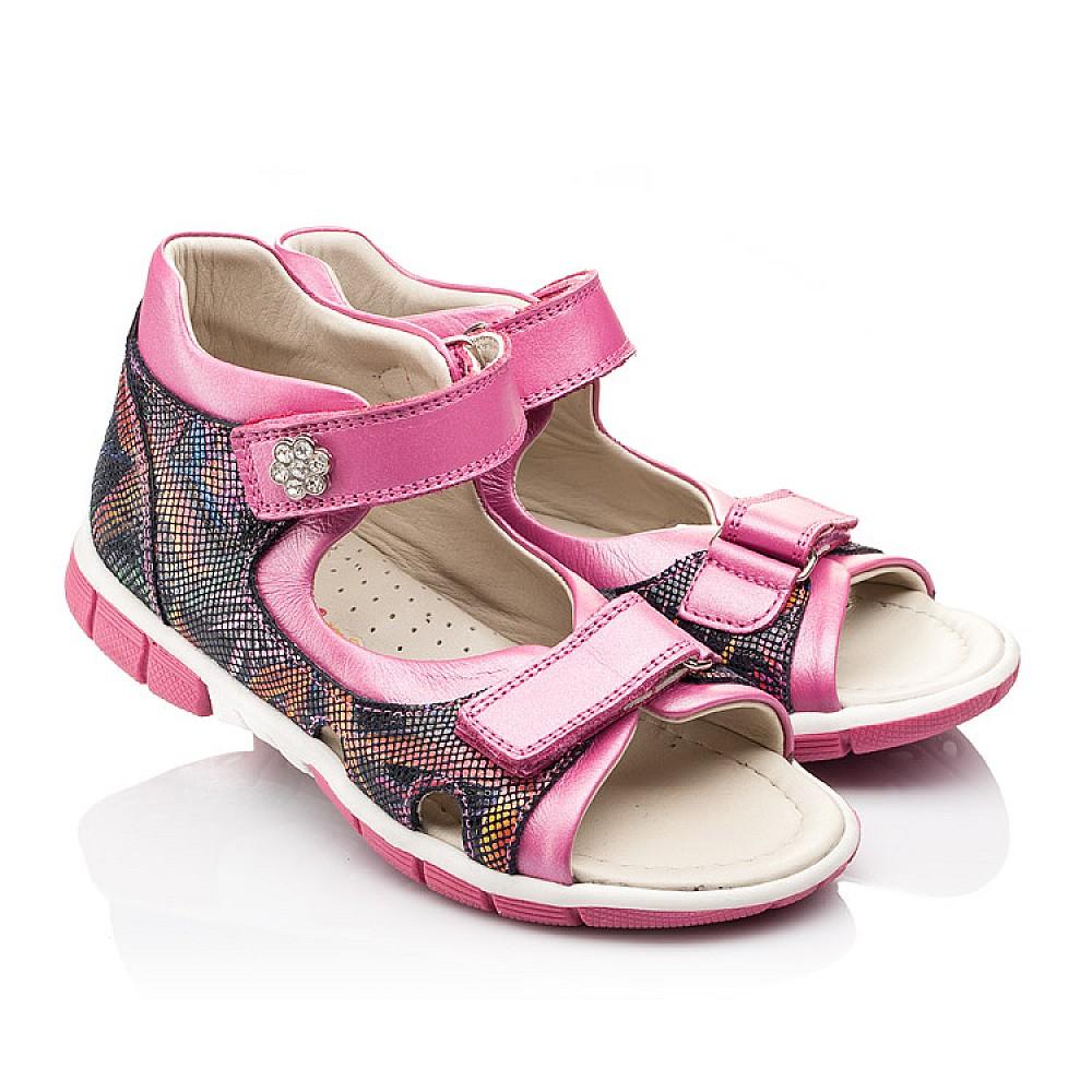 Детские босоножки Woopy Orthopedic разноцветные, розовые для девочек натуральная кожа размер 21-36 (2215) Фото 1