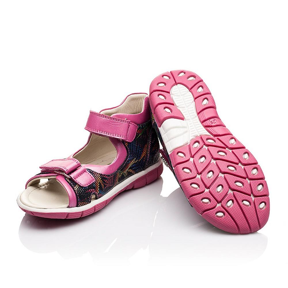 Детские босоножки Woopy Orthopedic разноцветные, розовые для девочек натуральная кожа размер 21-36 (2215) Фото 2