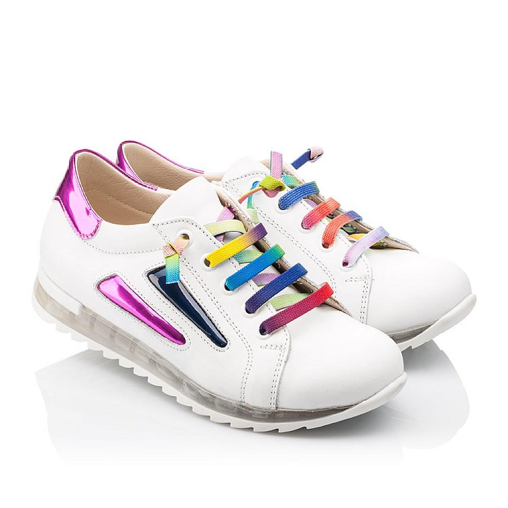 Детские кроссовки Woopy Orthopedic белые для девочек натуральная кожа размер 26-36 (2218) Фото 1