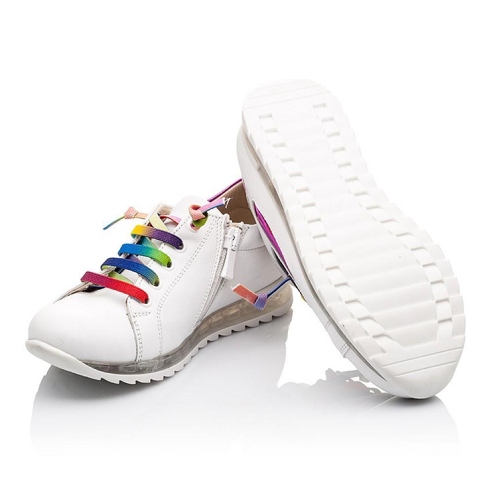 Детские кроссовки Woopy Orthopedic белые для девочек натуральная кожа размер 26-36 (2218) Фото 2