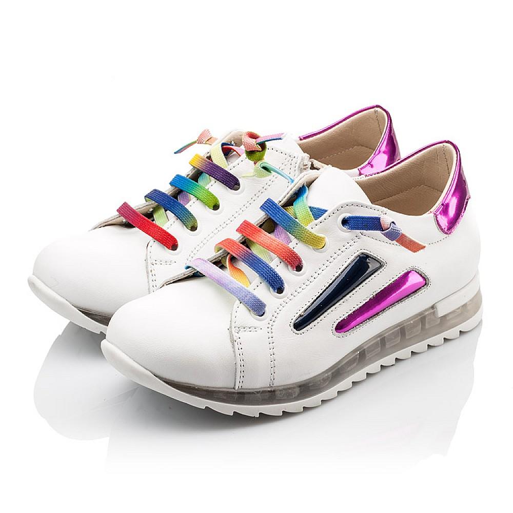 Детские кроссовки Woopy Orthopedic белые для девочек натуральная кожа размер 26-36 (2218) Фото 3