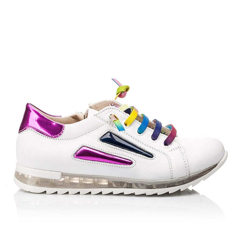 Детские кроссовки Woopy Orthopedic белые для девочек натуральная кожа размер 26-36 (2218) Фото 4