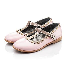 Детские туфлі Woopy Orthopedic розовые для девочек натуральная лаковая кожа размер 26-26 (2224) Фото 3