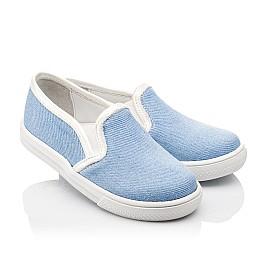 Детские слипоны Woopy Orthopedic голубые для девочек современный текстиль размер 23-23 (2232) Фото 1