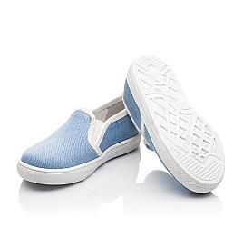 Детские слипоны Woopy Orthopedic голубые для девочек современный текстиль размер 23-23 (2232) Фото 2