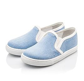 Детские слипоны Woopy Orthopedic голубые для девочек современный текстиль размер 23-23 (2232) Фото 3