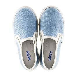 Детские слипоны Woopy Orthopedic голубые для девочек современный текстиль размер 23-23 (2232) Фото 5
