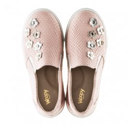 Детские слипоны Woopy Orthopedic розовые для девочек современный текстиль размер - (2239) Фото 5
