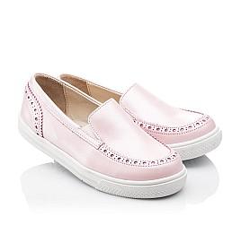 Детские слипоны Woopy Orthopedic розовые для девочек натуральная кожа размер - (2242) Фото 1