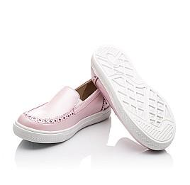Детские слипоны Woopy Orthopedic розовые для девочек натуральная кожа размер - (2242) Фото 4