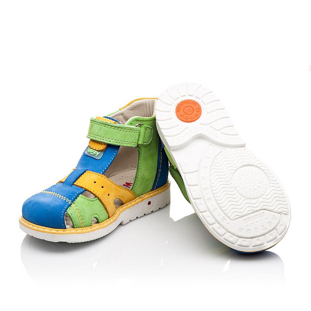 Детские закрытые ортопедические босоножки Woopy Orthopedic разноцветные для мальчиков натуральный нубук размер 18-25 (2252) Фото 2