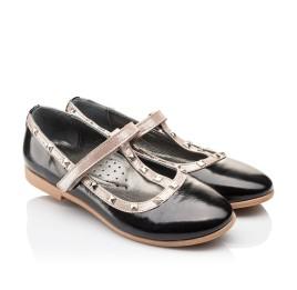 Детские туфлі Woopy Orthopedic черные для девочек натуральная лаковая кожа размер 26-26 (2256) Фото 1