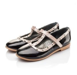 Детские туфлі Woopy Orthopedic черные для девочек натуральная лаковая кожа размер 26-26 (2256) Фото 3